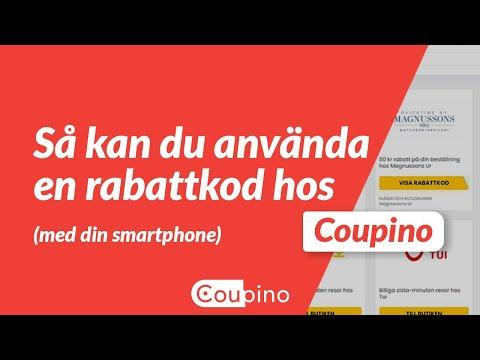 Använd en kupong på Coupino (mobil)