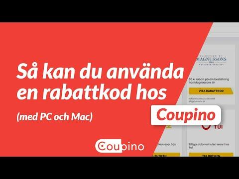 Använd en kupong på Coupino (PC & MacOS)
